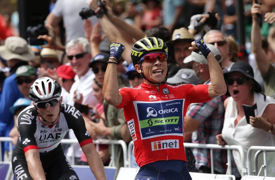 Ewan, ganando en enero y compitiendo aún en octubre. Foto: Tour Down Under