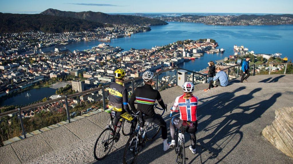 Las vistas desde la cima Noruega harán disfrutar de Bergen. Foto: Bergen 2017 / Tom Gulbrandsen