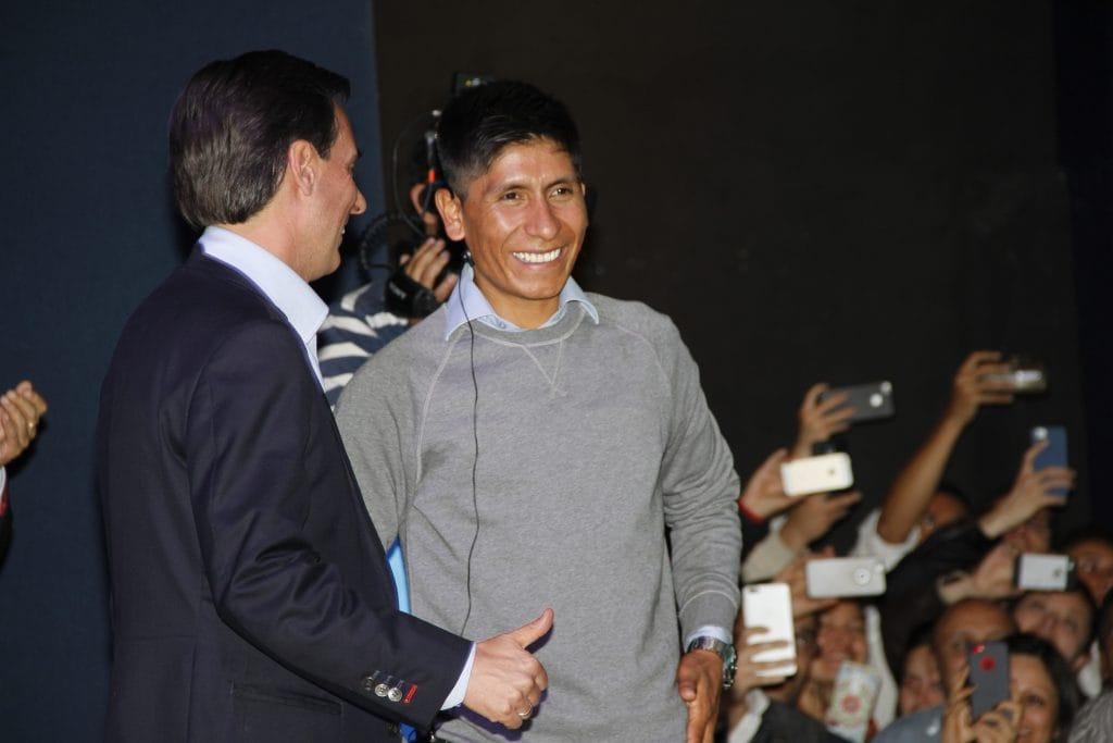 Con el Presidente CEO de Telefónica Colombia, Alfonso Gómez Palacio. Foto: Prensa Telefónica Colombia