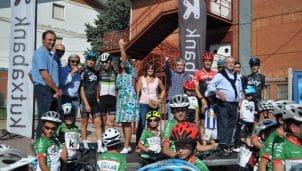 La Fundación Euskadi celebra con éxito su 'Fiesta de la Bici' entre profesionales