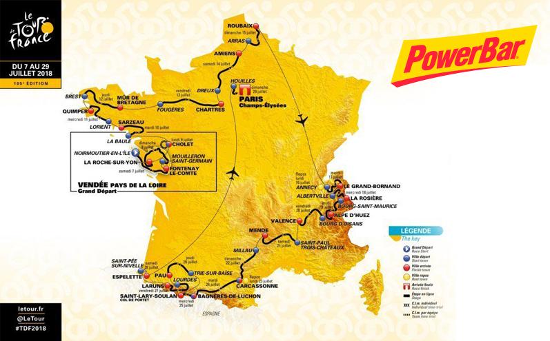 Powerbar, la nutrición del Tour de Francia