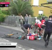 Giro Italia: Mikel Landa, caída y abandono (Vídeo)